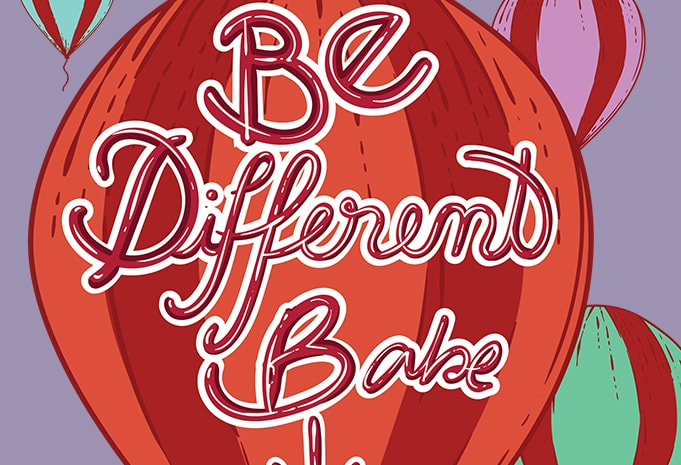 Be different babe tshirt design for merch by amazon