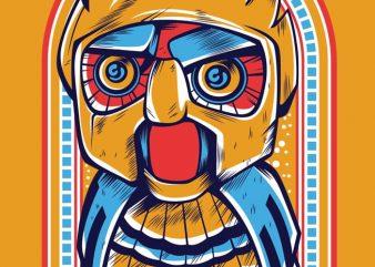 Owl Robot t shirt design online