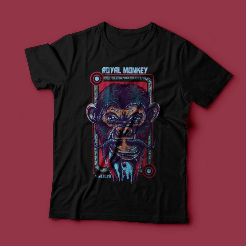 Royal Monkey t shirt designs for teespring
