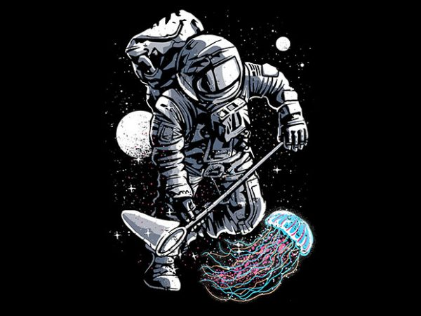Astronaut Jellyfish t shirt design 600x450 - Astronaut Jellyfish T shirt Design buy t shirt design