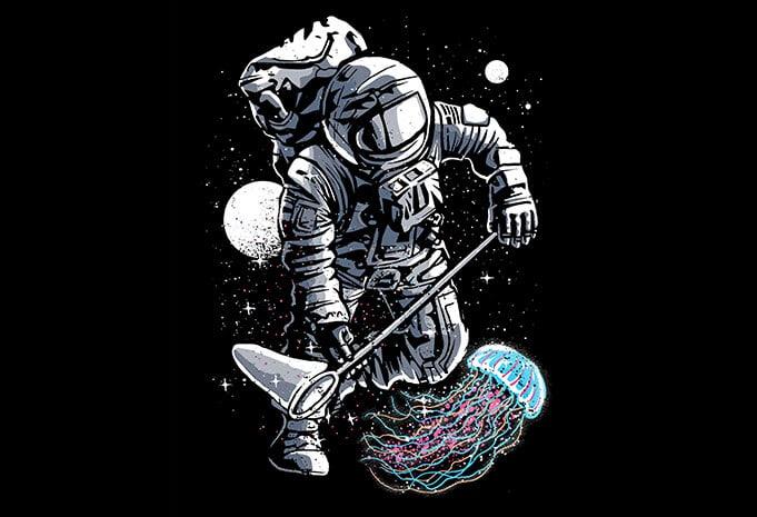 Astronaut Jellyfish t shirt design - Astronaut Jellyfish T shirt Design buy t shirt design