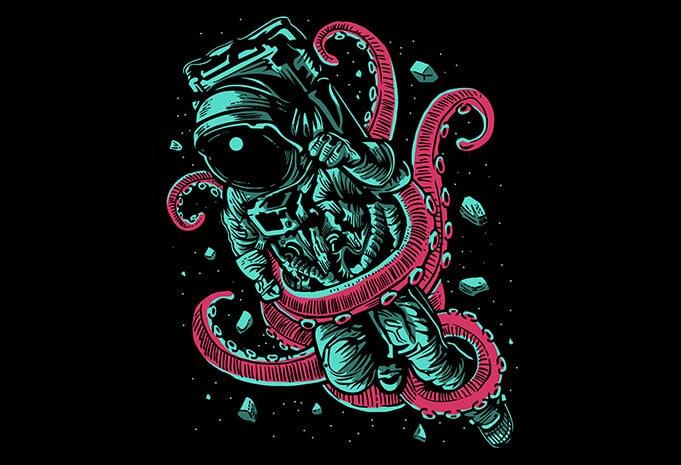 Astronaut Octopus T shirt design - Astronaut Octopus T shirt Design buy t shirt design