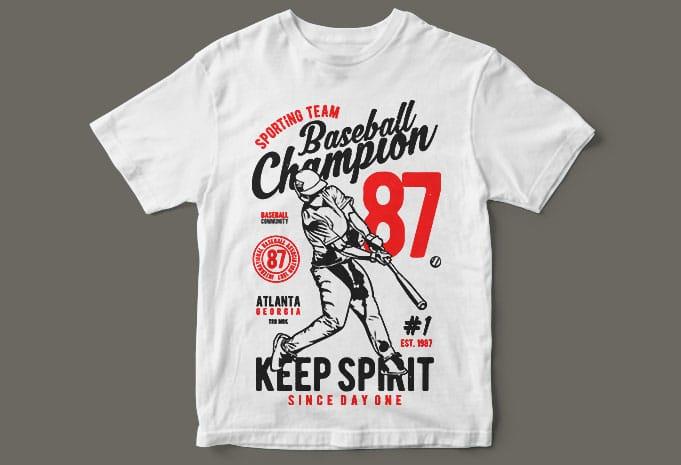 Baseball Champion t shirt design - Baseball Champion buy t shirt design