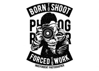 Born To Shoot print ready vector t shirt design