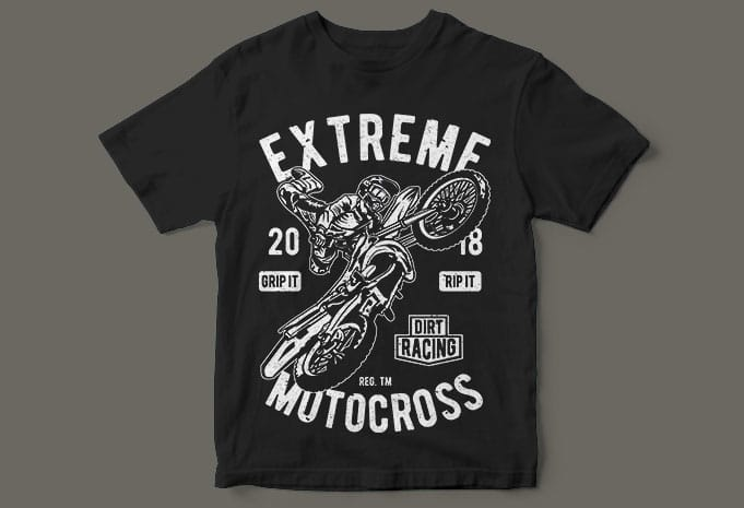Extreme Motocross t shirt designs for print on demand