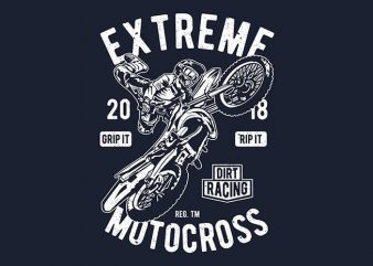 Extreme Motocross vector t-shirt design