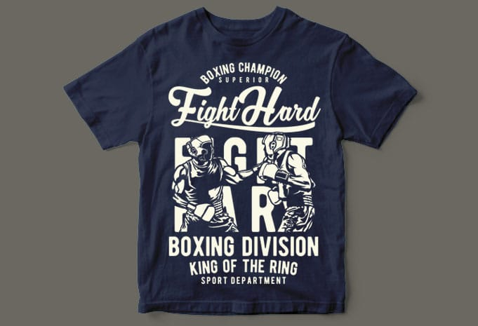 Fight Hard t shirt designs for print on demand