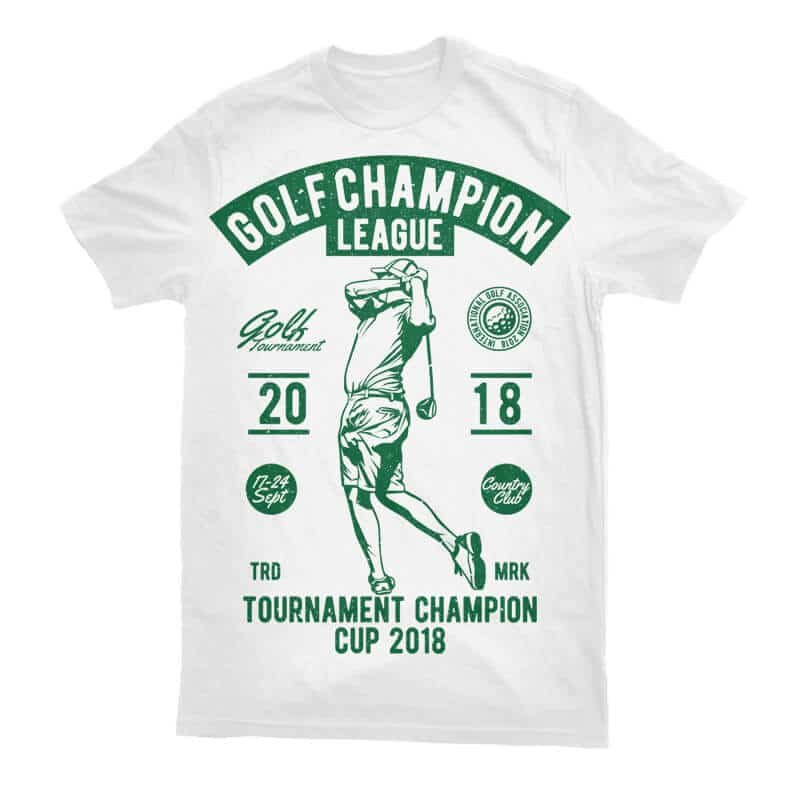 Golf Champion League Buy T Shirt Designs