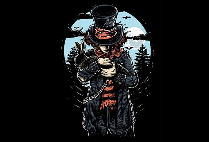 Mad Hatter T shirt Design - Mad Hatter T shirt Design buy t shirt design