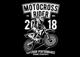 Motocross Rider t shirt designs for sale