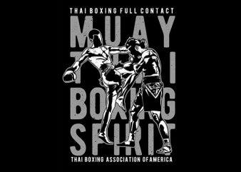 Muay Thai vector t-shirt design template