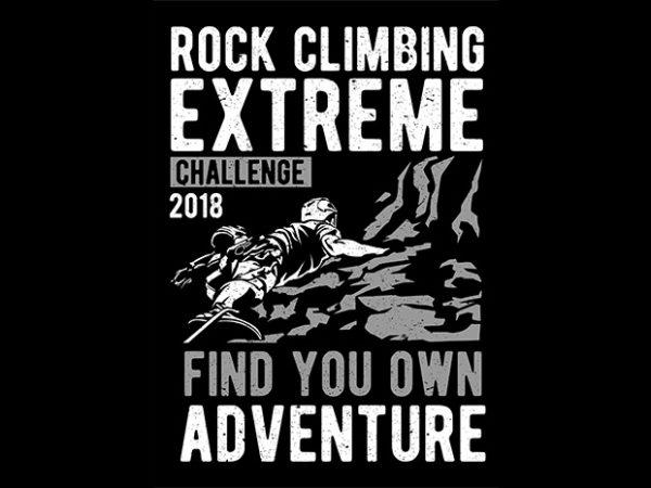 Rock Climbing graphic t-shirt design