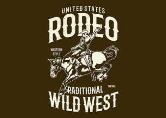 Rodeo vector t shirt design artwork