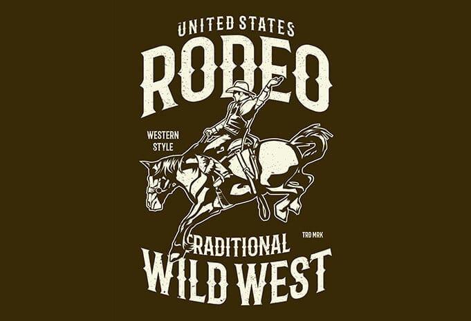 Rodeo T shirt Design - Rodeo buy t shirt design