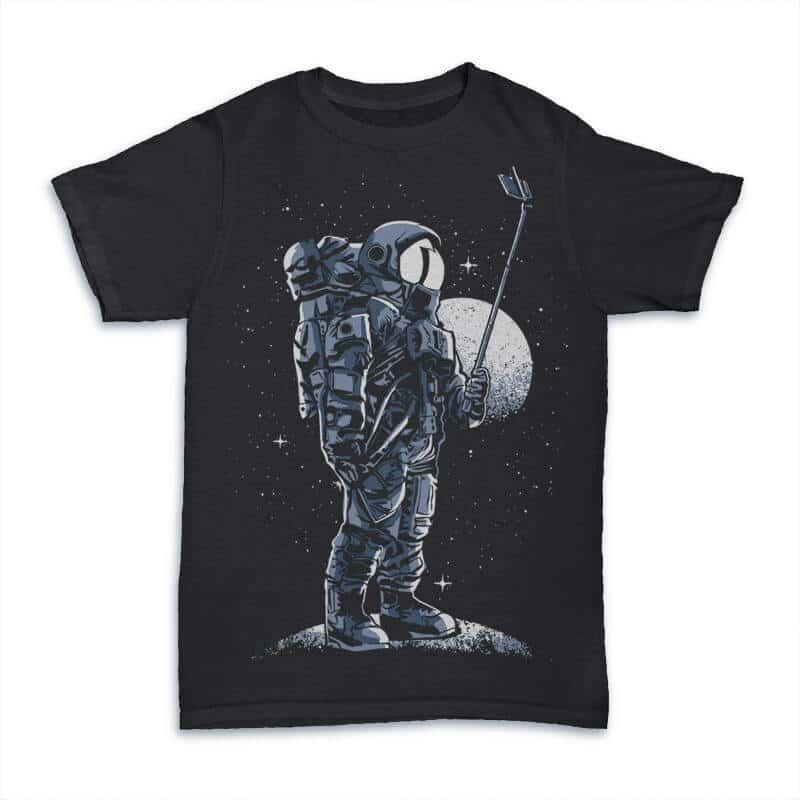 Selfie Astronaut T shirt design 24348 1 - Selfie Astronaut T shirt Design buy t shirt design