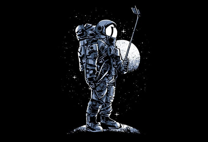 Selfie Astronaut buy tshirt design 1 - Selfie Astronaut T shirt Design buy t shirt design