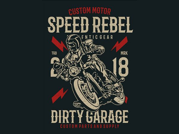 Speed Rebel Tshirt design 600x450 - Speed Rebel buy t shirt design
