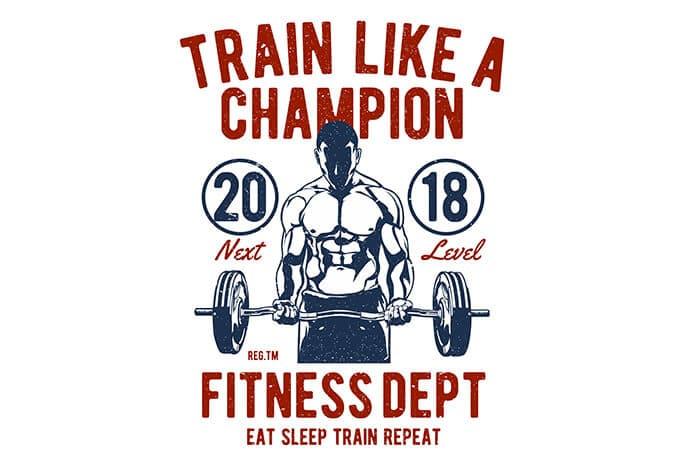 Train Like A Champion t shirt design - Train Like A Champion buy t shirt design