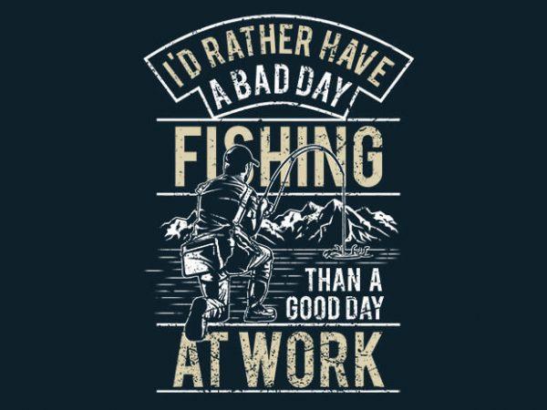 Fishing tshirt design vector