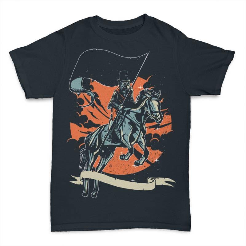 Plague Doctor t shirt design tshirt design for merch by amazon