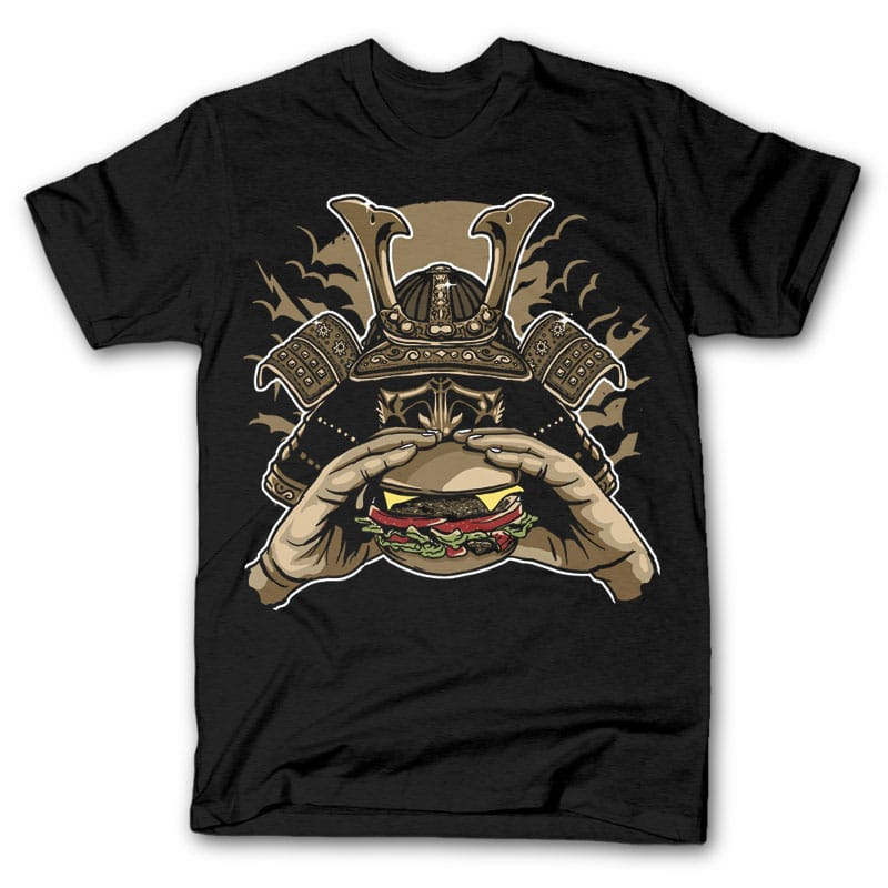 Samurai Burger t shirt design buy tshirt design