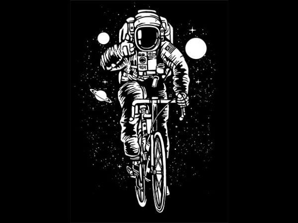 Astronaut Bicycle Tshirt design
