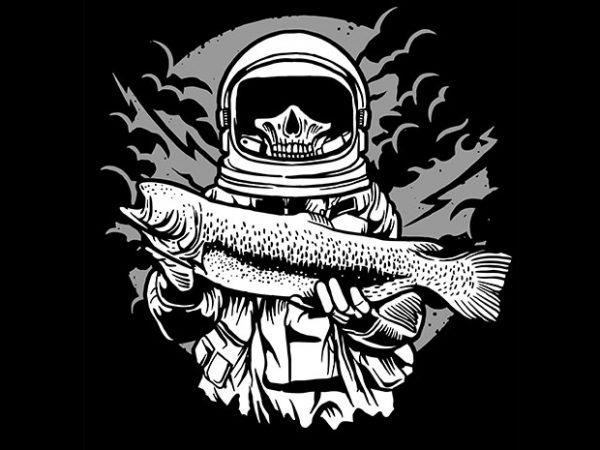 Astronaut Fishing tshirt design 600x450 - Astronaut Fishing tshirt design buy t shirt design