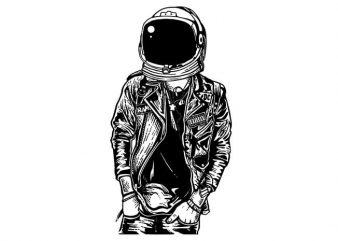 Astronaut Punkster tshirt design
