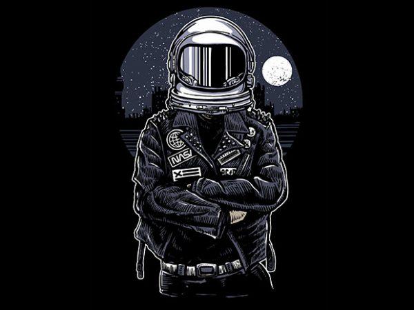 Astronaut Rebel tshirt design