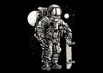 Astronaut Skater t shirt design