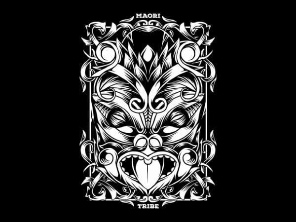 Maori Mask T-Shirt Design