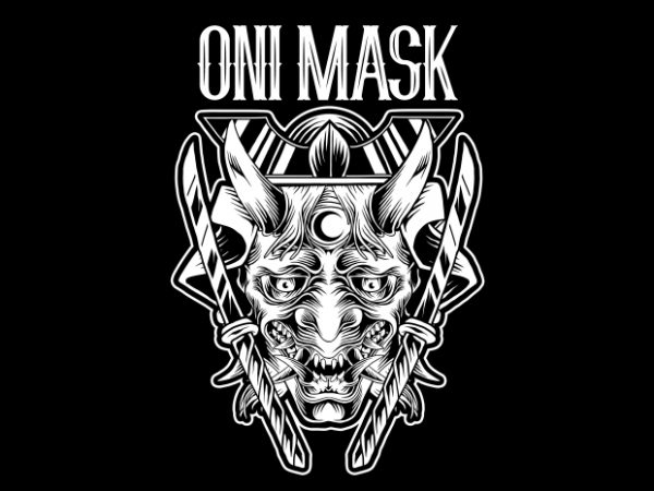 BTD 3 600x450 - Oni Mask T-Shirt Design buy t shirt design