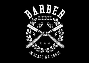 Barber Rebel vector t-shirt design