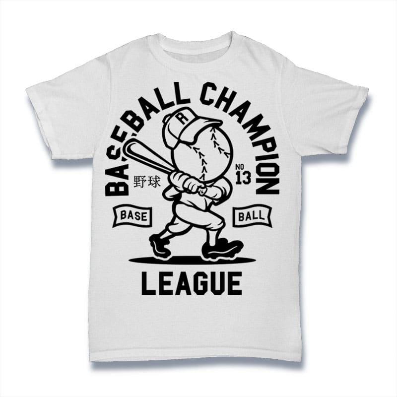 Baseball Champion t-shirt designs for merch by amazon