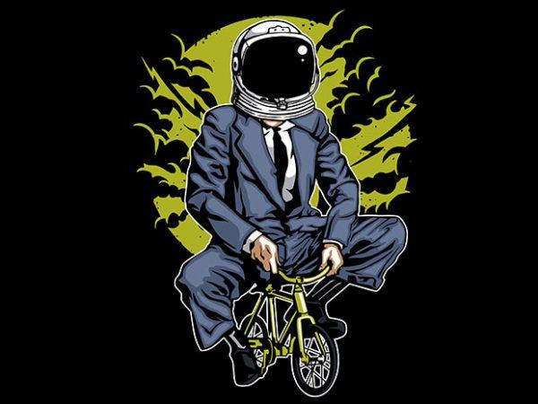 Bike To The Moon t shirt design