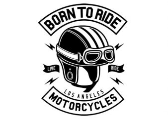 Born To Ride Motorcycles t shirt template