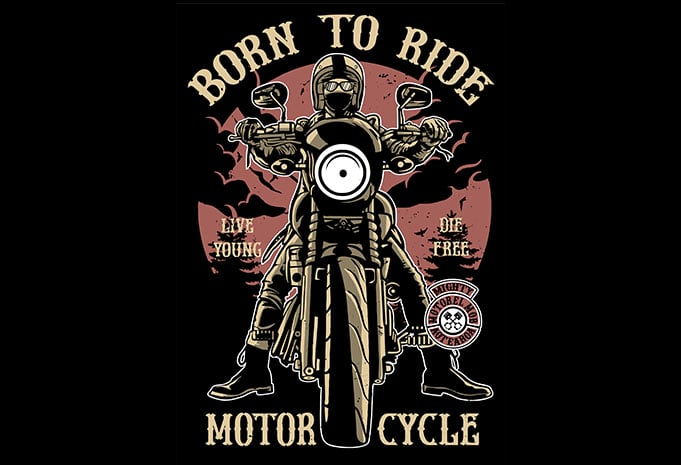 Born To Ride t shirt design - Born To Ride T shirt design buy t shirt design