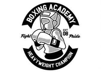 Boxing Academy t shirt template