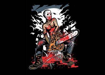 Chainsaw Killer tshirt design