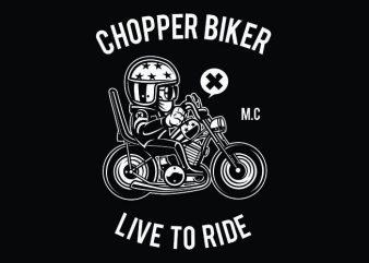 Chopper Biker t shirt vector file