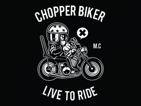 Chopper Biker vector shirt design