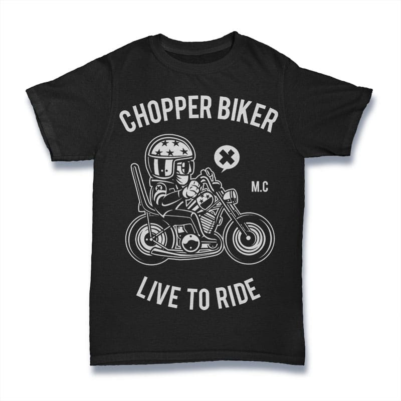Chopper Biker t-shirt designs for merch by amazon