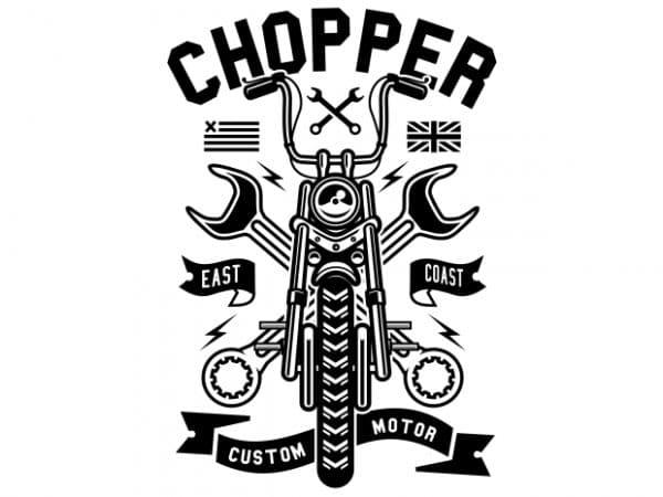 Chopper vector t-shirt design