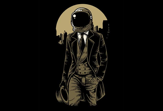Classic Astronaut t shirt design - Classic Astronaut t shirt design buy t shirt design