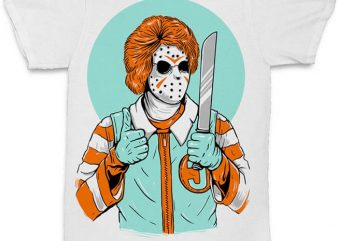 Clown Killer concept vector t-shirt design for commercial use
