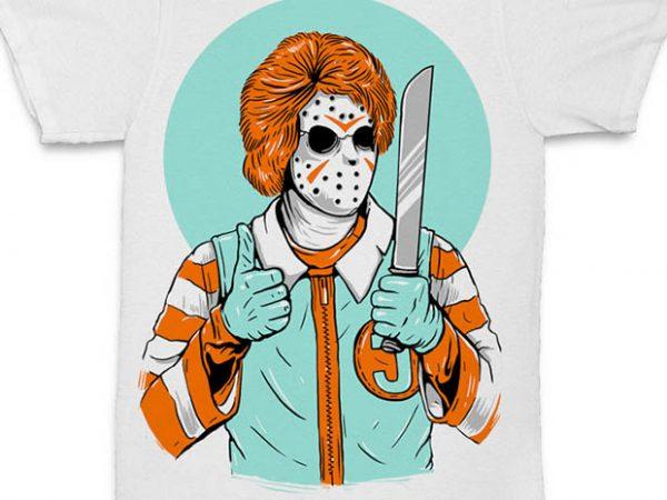 Clown Killer concept vector t-shirt design for commercial use