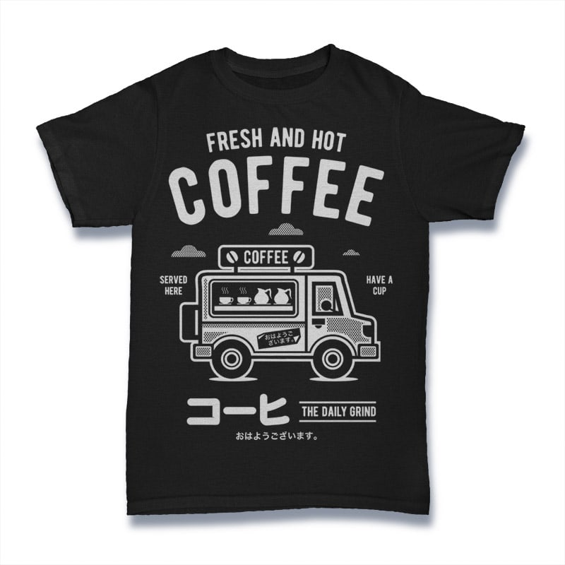 Coffee Van t-shirt designs for merch by amazon