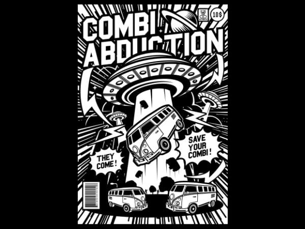 Combi Abduction graphic t-shirt design