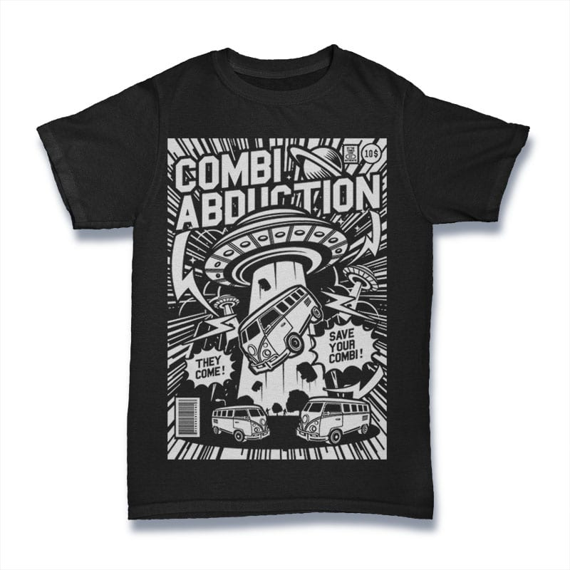 Combi Abduction vector shirt designs
