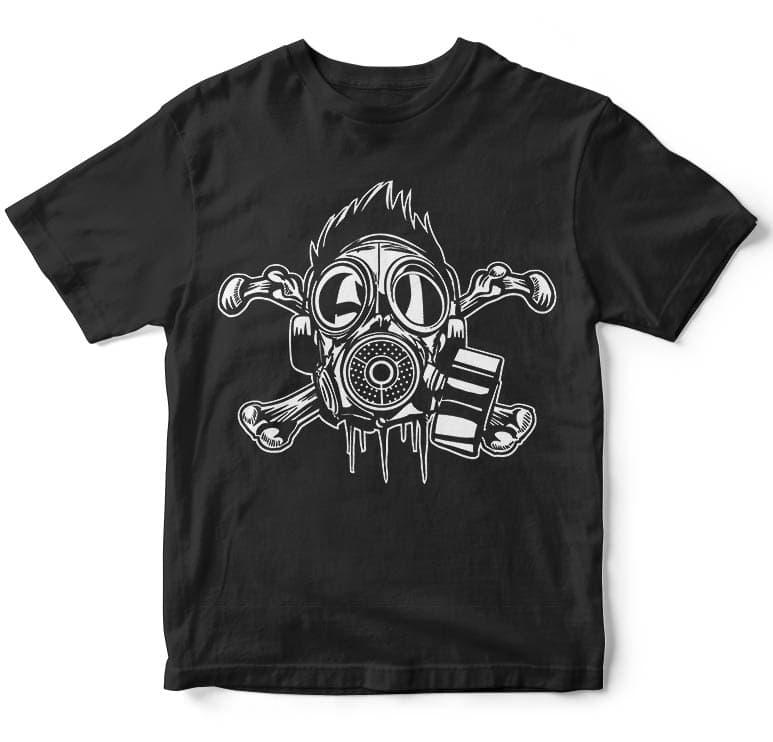 Cross Bones Gasmask tshirt factory